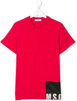 MSGM logo patch T-shirt