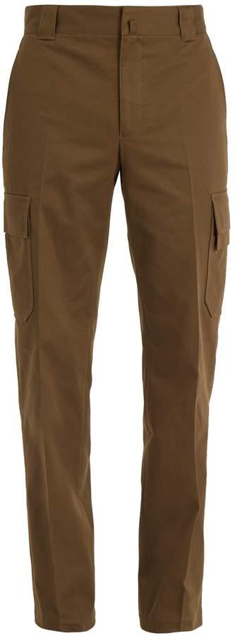 Lanvin Straight-leg cotton-drill cargo trousers