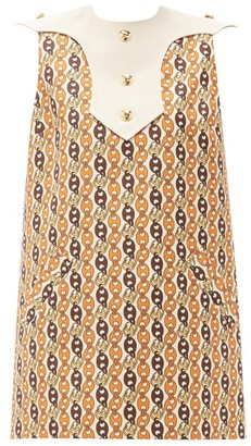Gucci GG Chain-print Shift Dress - Ivory Multi