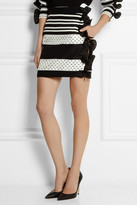 Ungaro Ruffle-trimmed satin-twill mini skirt