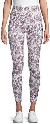 Floral-Print Stretch Leggings