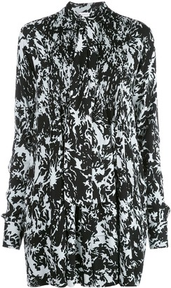 Proenza Schouler White Label Shadow print babydoll dress