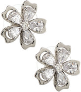 Fragments for Neiman Marcus CZ Flower Stud Earrings, Silvertone