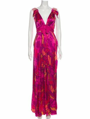 Lanvin Silk Long Dress Pink