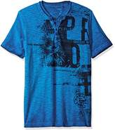 ProjekRaw Projek Raw Men's Short Sleeve Henley Reverse Slubs