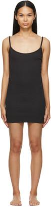 SKIMS Black Cotton Rib Slip Dress