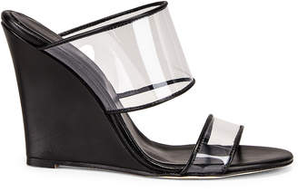 Paris Texas Plexi Wedge 100 Heel in Black | FWRD