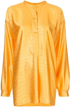 Sies Marjan Azra crocodile-embossed satin shirt