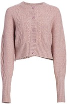 Munthe Joki Cable-Knit Cropped Cardigan Sweater