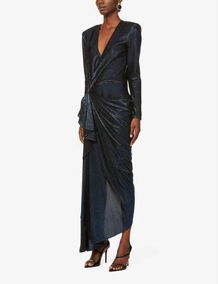 Redemption Cindy metallic woven maxi dress