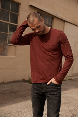 Velvet by Graham & Spencer Simeon Raw Edge Cotton Slub Tee
