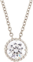 FANTASIA White CZ Crystal Pendant Necklace