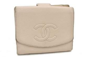 Chanel Beige Leather Wallets