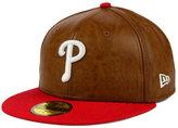 New Era Philadelphia Phillies So Leather 2-Tone 59FIFTY Cap