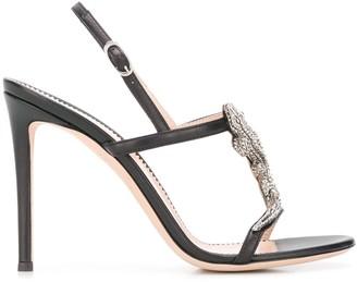 Giuseppe Zanotti Lizard Embellished Sandals