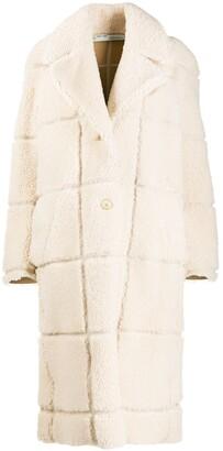 Off-White Grid Motif Coat