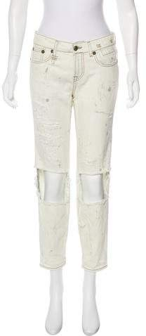 R 13 Relaxed Skinny Mid-Rise Jeans