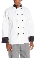 Dickies Men's 10 Button Chef Coat with Black Buttons and Trim