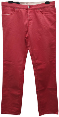 Gucci Pink Cotton Jeans