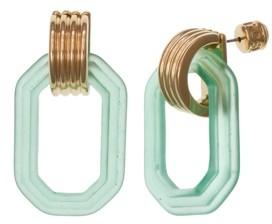 Christian Siriano New York Gold Tone Doorknocker Earrings