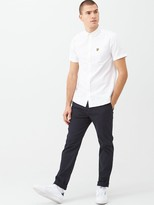 Lyle & Scott Short Sleeved Oxford Shirt - White