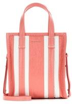 Balenciaga Bazar Shopper Xs Striped Leather Shopping Bag