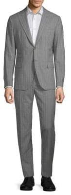 Eleventy Wool Pinstripe Suit Set