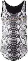 Balmain printed vest - women - Linen/Flax - 38
