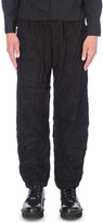 Yohji Yamamoto Rucked loose-fit flannel trousers