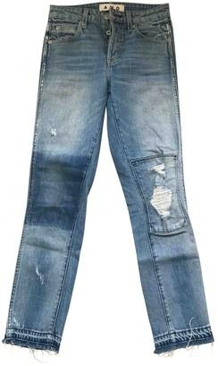 Amo Blue Cotton Jeans for Women