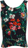Paco Rabanne Floral-print Stretch Top