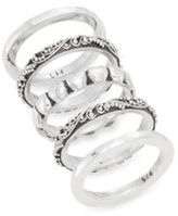 Lois Hill Heart Five-Piece Stacking Ring Set
