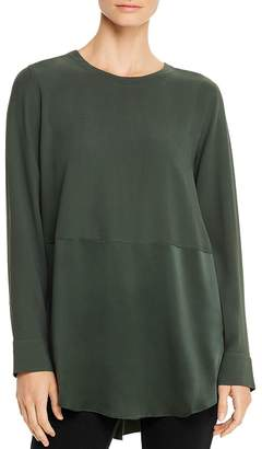 Eileen Fisher Silk Crewneck Tunic