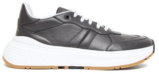 Bottega Veneta Speedster Leather Trainers - Mens - Grey