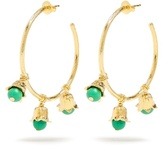 Aurelie Bidermann Lily of the Valley gold-plated hoop earrings
