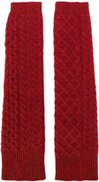 Pringle cable knit wrist warmers
