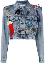 Alice + Olivia Alice+Olivia multi patched denim jacket