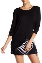 Trina Turk Asymmetrical Long Sleeve Tee