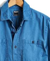 Todd Snyder Short Sleeve Indigo Guayabera Shirt in Blue