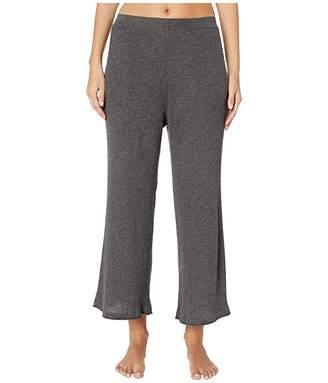 Skin Melinda Wool and Cashmere Blend Crop Pants (Dark Charcoal) Women's Pajama