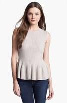 Rebecca Taylor Crewneck Peplum Sweater