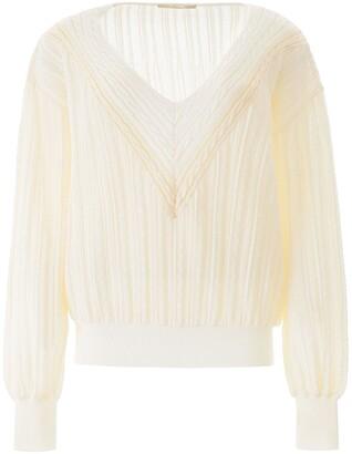 Marco De Vincenzo V-neck Lurex Sweater
