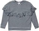 Wallis **Girls Gingham Frill Sweatshirt (5 - 12 years)