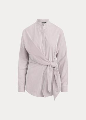 Ralph Lauren Striped Tie-Waist Cotton Shirt