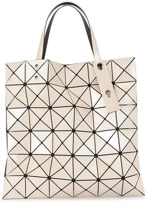 Bao Bao Issey Miyake Geometric Patterned Engraved Logo Shopper Tote Bag
