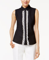 Tommy Hilfiger Cotton Sleeveless Embroidered Shirt