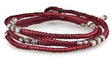 M. Cohen Corded Wrap Bracelet With Silver Beads