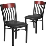 Ringel Contemporary Upholstered Dining Chair Red Barrel Studio Finish: Mahogany