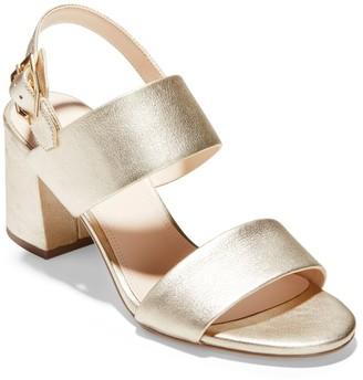 Cole Haan Avani Metallic Block Heel Sandal