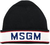 MSGM intarsia logo beanie - men - Wool/Polyacrylic - One Size
